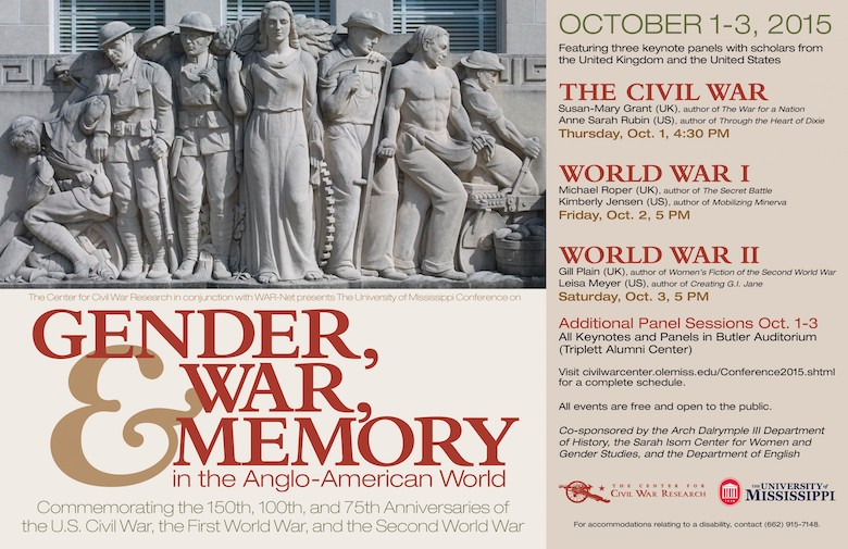 Conference on Gender, War, and Memory in the Anglo-American World