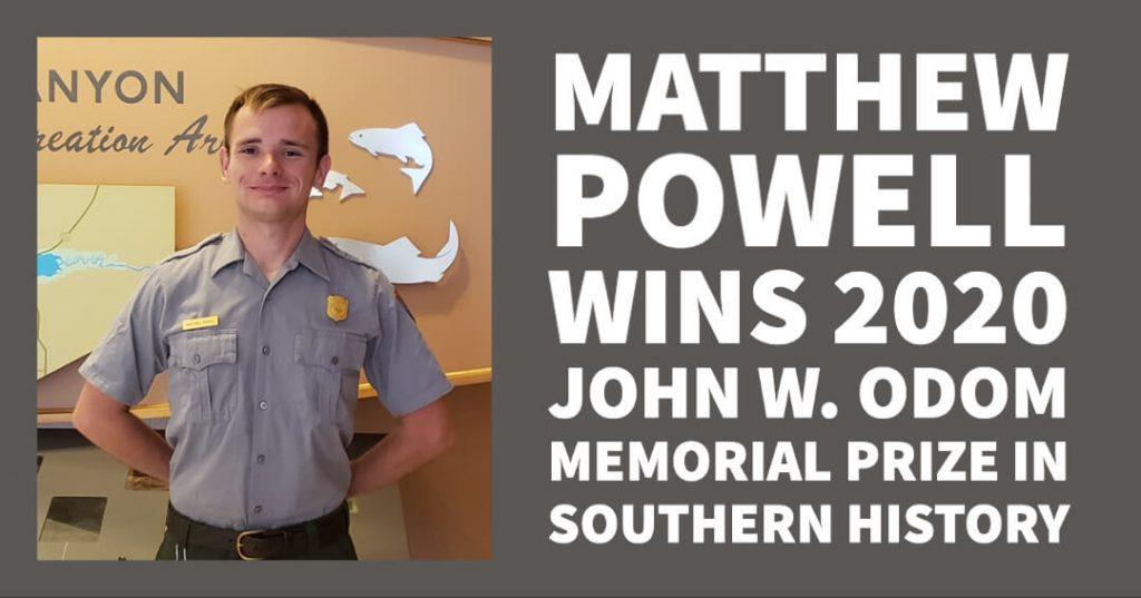 Matthew Powell wins Odom Prize