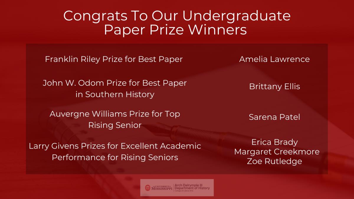 Paper Prize Winners